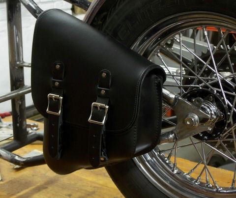 Stash Bags are single side saddlebags, mounted to the left side of your frame. They compliment the lines of your bike.